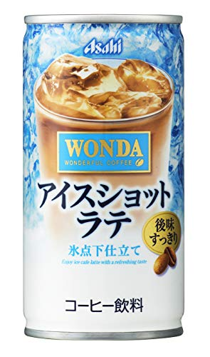 일본 아사히 캔커피 아사히 음료 완다 아이스 샷 라떼 185g × 30 개
