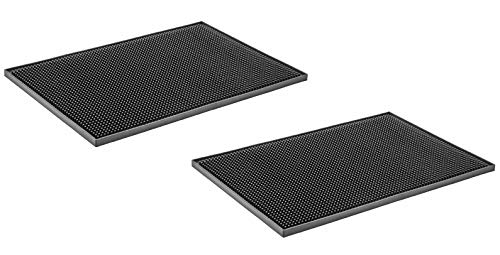 THW PVC Rubber Bar Service Mat Spill Mat for Counter Top, Non Slip – 18″ x 12″ (Pack of 2 Pieces) Price & Reviews