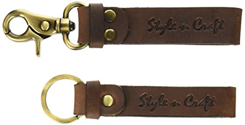 Snap Key Fob (Style n Craft 395203-BR Snap Loop and Key Ring Combination in Heavy Top Grain)