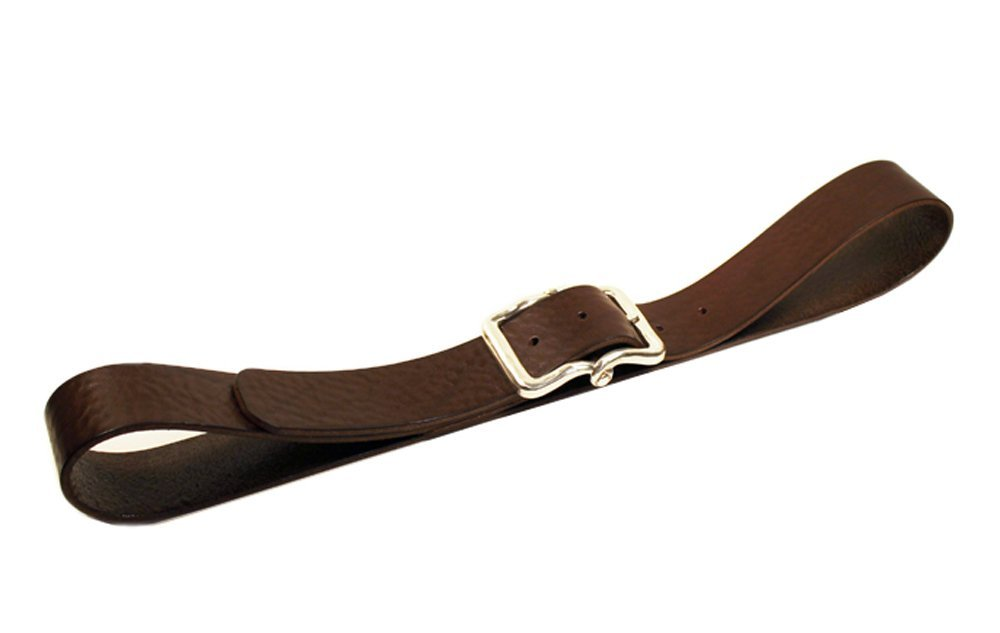 TUMBLED BULL LEATHER BELT