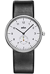 Braun Men's BN0024WHBKG Classic Analog Display Quartz Black Watch