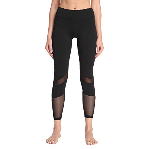 Yoga Pants, FEIVO Women's Power Flex Yoga Pants Tummy Control Workout Yoga...