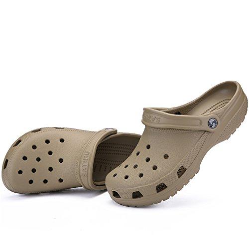 Dimensione Blu con fino Jiuyue cava EU Scarpe fondo 46 alla Color Vamp impermeabili taglia da donna Sandali uomo uomo da 46 shoes e Marrone da Fq8F1rR