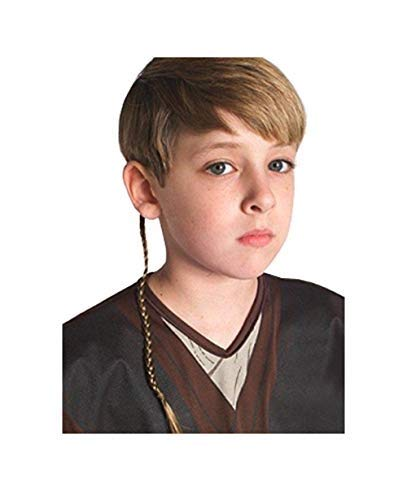 Rubies Costume Co Anakin Skywalker Jedi Apprentice Braid Costume Accessory,Brown,One Size -