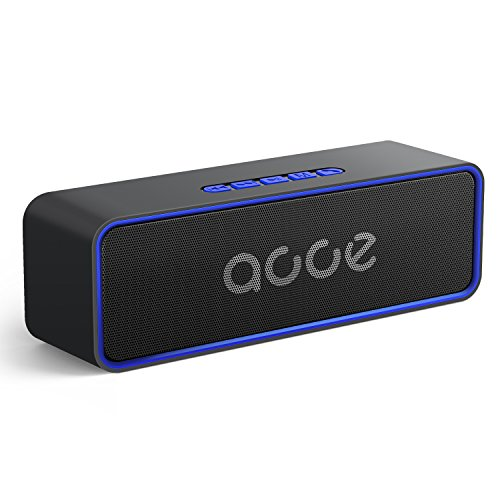 OJA Newest Bluetooth 5.0 Speaker,Portable Wireless Stereo Speaker,Strong Bass 10W Speakerphone with Built-in Mic,24-Hour Playtime,164-328ft,Great for Outdoor/Indoor,Support All Devices (Blue)