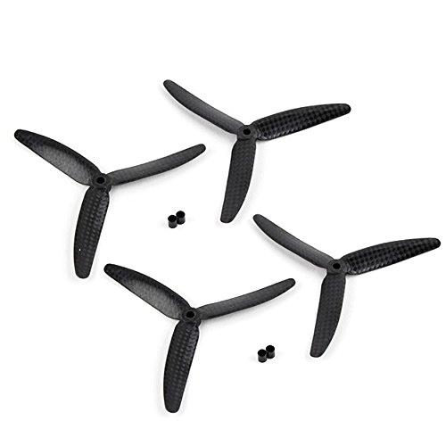 3 Blade Usa (4pcs 5x3 5030 Carbon Fiber 3-Blade Propeller (2) CW (2) CCW for Quadcopter Racing Drone)