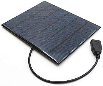 Z.L.FFLZ Mini Solar-Panel Solar Panel Ladegerät Output 30cm Kabel Polykristalline Solarzellen-DIY Solarlade Akku 6V 3.5W mit 5V USB