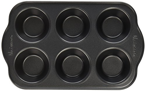 (Uniware Nonstick Muffin Pan with Oversized Handles, Horma Antiadherente Para Muffins (6 Cups (Small)))