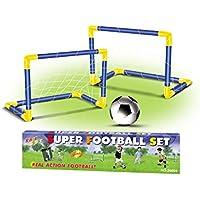 King Sport  Çiftli Mini Futbol Kalesi (fn-f068560-t), Çocuklar, Sarı/Mavi, Tek Beden