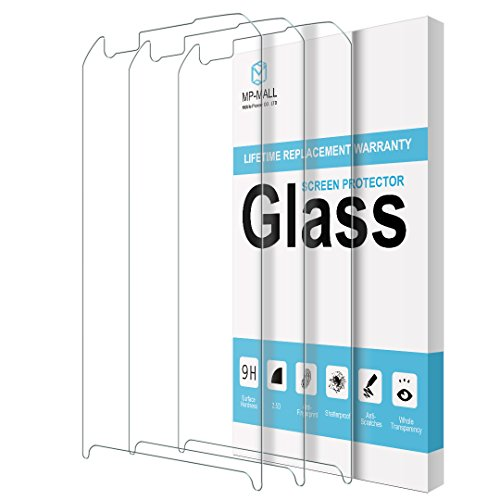 [3-PACK] MP-MALL For LG X Venture Screen Protector [Tempered Glass] with Lifetime Replacement - Ventura Mall