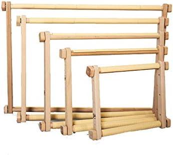 in legno colore: Marrone 40 x 56 cm Supporto da terra per ricamo MARUSSIA 1367-006 EMS
