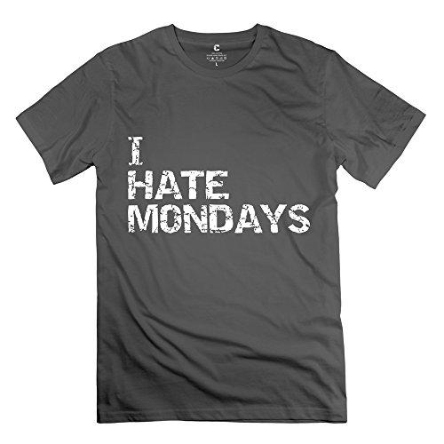 ZZY New Design Hate Monday Tee - Men's T Shirts DeepHeather Size XXL