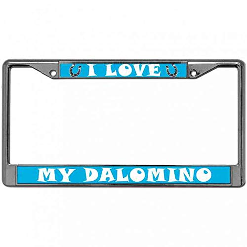 ken fi Quality Metal License Plate Frame I Love My Dalomino License Plate Frame Automotive License Plate Frame with Screw Caps for US