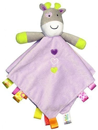 Taggies Purple Giraffe Rattling Security Blanket by Taggies (Taggie Ball)