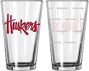 Boelter Brands NCAA Satin Etch Pint Glass Set