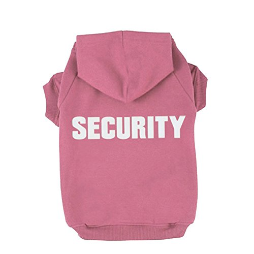 Security Dog Hoodies,Rdc Pet Apparel Autumn & Winter Sweatshirt Warm Sweater, Cotton Jacket Coat for Samll Dog & Medium Dog & Cat (Pink) (XXXL)
