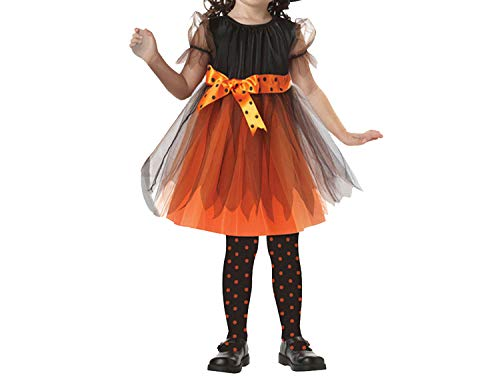 Halloween Party Kids CWitch Costume Costume Witch Dress with Hat,Yellow,9T1 -