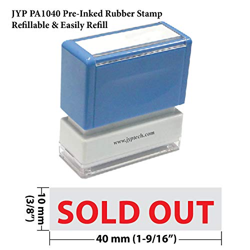 Stamp Rubber New Large - New JYP PA1040 Pre-Inked Rubber Stamp w. Sold Out