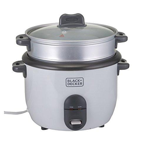 Black & Decker RC1860 700W 1.8 L 7.6 Cup Rice Cooker (Non-USA Compliant), White