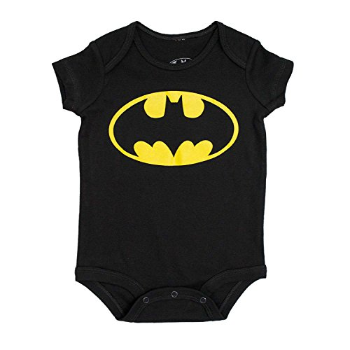 Price comparison product image DC Comics Batman Logo Onesie Romper (6 Months, Black)