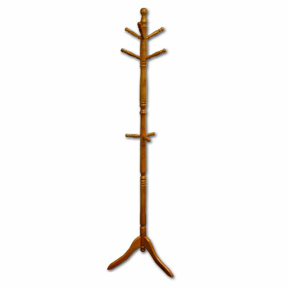 Ore International Natural Wood Coat Rack N10081-NA