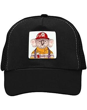 Unisex Mr.Koala Fireman Adjustable Classic Hiphop Hat Baseball Cap Snapback Dad Hat