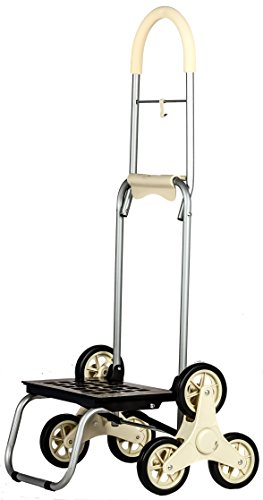 dbest products Stair Climber Mighty Max Personal Dolly ,Cream Handtruck Hardware Garden Utilty Cart