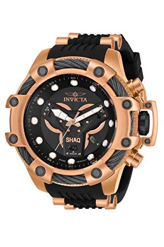 Reloj de cuarzo de acero inoxidable Invicta Shaq para hombre con correa de silicona, oro rosa, 26 (modelo: 33670)