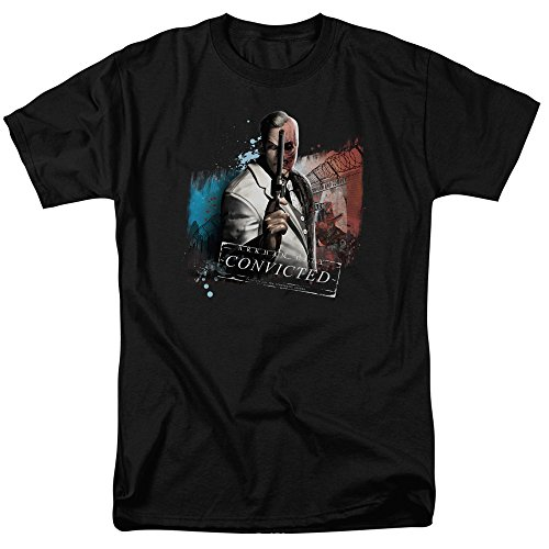 Trevco Men's Batman Arkham City Short Sleeve T-Shirt, Face Black, X-Large from Trevco