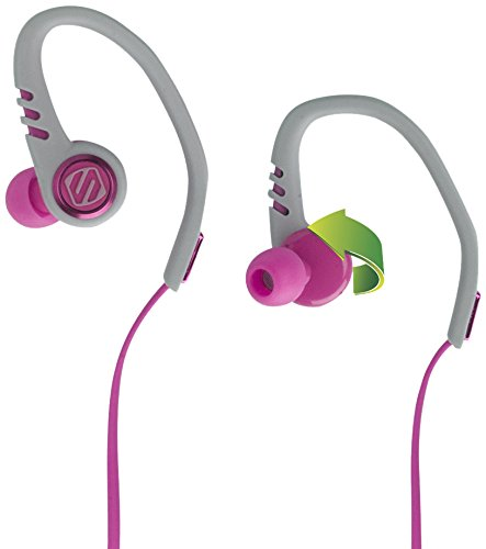 Scosche Sportflex 3 Running Earbuds with TAPIT Remote and Microphone - Splashproof and Dustproof IPX4 Rated Exercise Headphones with Multiple Size Silicone Ear Bud Inserts - Pink (HPSC3TIPK)