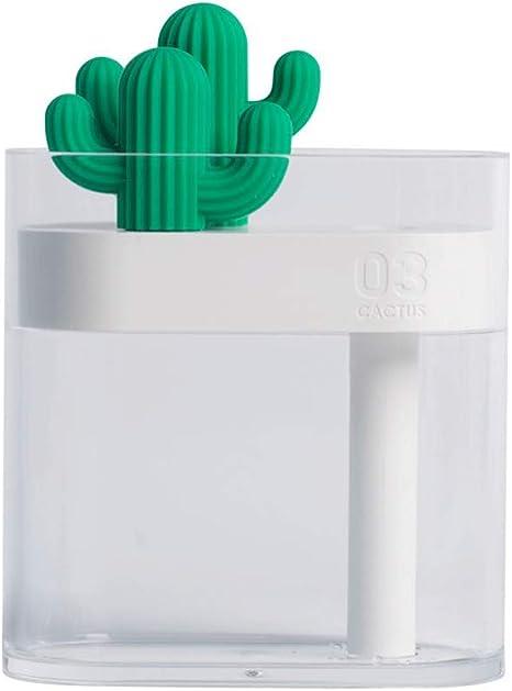 wqzsffgg Pequeño Transparente Cactus humidificador, Mini ...