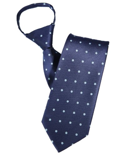 H2H Mens Comfortable Zipper Neck Tie With Dot Patterned NAVYSKY Asia NONE (KMANT021) (Zipper Dot)