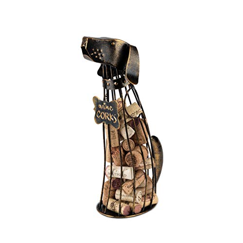 TRUE 6335 Dog Wine Cork Display Black Set of 1
