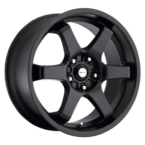 Focal 421B X Satin Black Wheel (16x7/4x100mm, 42 mm offset) (Rims Del Sol)