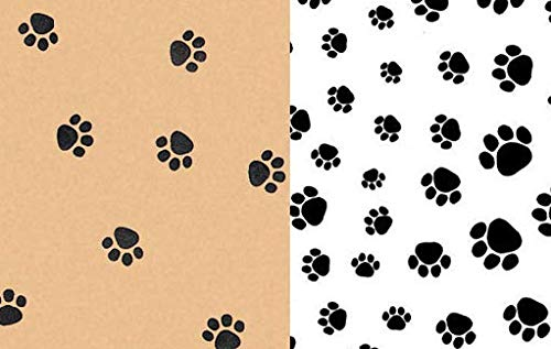 Paw Print Tissue Paper 24 Sheets 20
