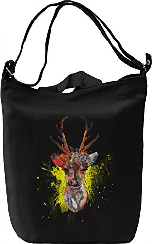 Stag Power Borsa Giornaliera Canvas Canvas Day Bag| 100% Premium Cotton Canvas| DTG Printing|