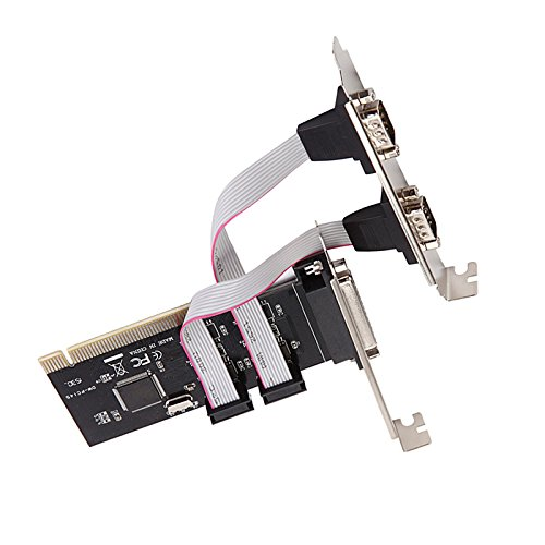 Diewu Official PCI 2 Serial 1 Parallel Port Expansion Card for TXIC382A& asix9865 PCI to com PCI Parallel Card