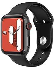 ساعة ذكية U78 تقوم بقياس درجة حرارة الجسم والأكسجين في الدم و نبطات القلب وضغط الدم وتنبيهات المكالمات والرسائل متوافق مع نظامي Android و IOS لون أسود