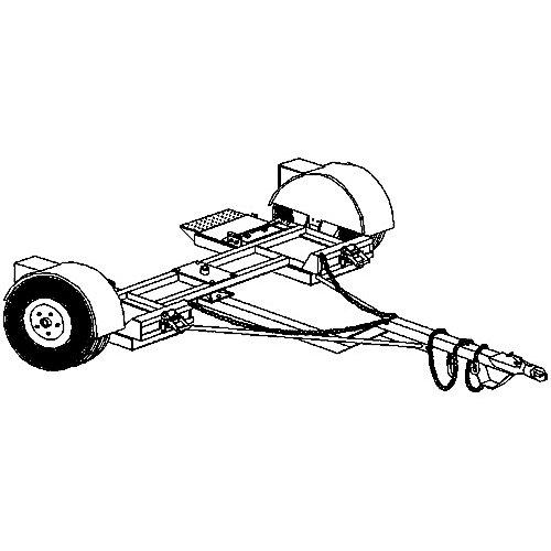 heavy duty car dolly trailer plans blueprints  model 1000