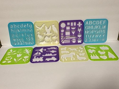 Tupperware Stencil Art Set 8 Stencils