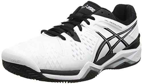 Bianco 0190 Clay silver Tennis resolution Asics 6 white black Uomo Gel Da Scarpe white qAS8gRnOwg