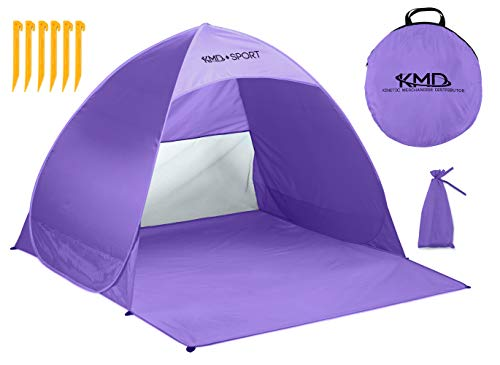 Pop Up Beach Tent Shelters - Lightweight Portable Cabana Sunshade for Privacy & Cool Shade Canopy - Great for Baby, Adults, Kids, Camping - Tents Quick Set Up Provides Instant Sun Shelter (Purple) (Pink Purple Tent)