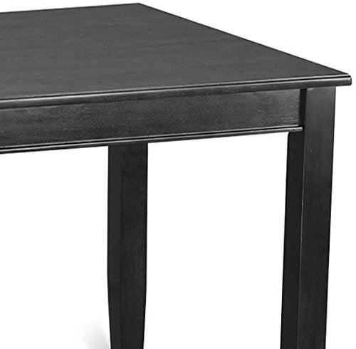 East West Furniture BUT-BLK-T Counter Height Rectangular Table, 30-Inch by 48-Inch, Black Finish by East West Furniture (Image #3)