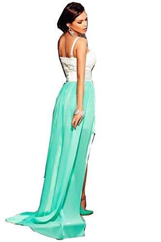 COSIVIA Femme Robes Robe de soirée robe en dentelle de soirée Sans manches bustier Sexy Elégant confiants ,Taille M/L