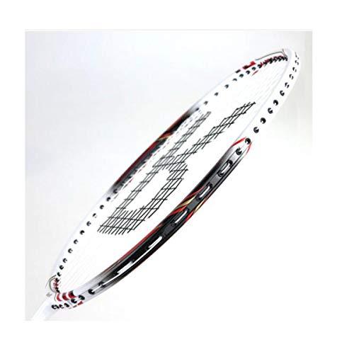 Tongboshi Full Carbon Badminton Racket, On The Beat, 2 Double Shot Set Ultra Light Beginner, Competition, Training, White, Yellow, White + Yellow (has Threaded) Badminton Racket, (Color : Yellow) by Tongboshi (Image #4)