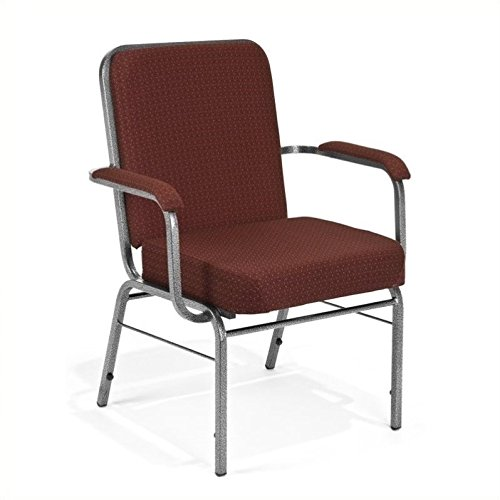 - OFM Big and Tall Comfort Class Series Arm Office Chair in Burgundy