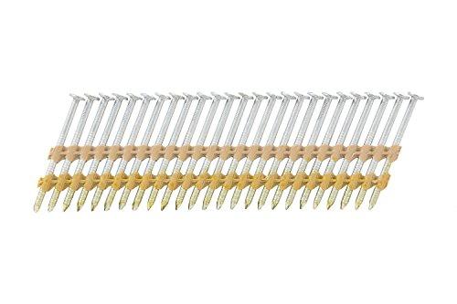 Hitachi 10123 2'' x 0.113'' Full Round Head Electro Galvanized Ring Shank Plastic Strip Framing Nails 6000 count by Hitachi