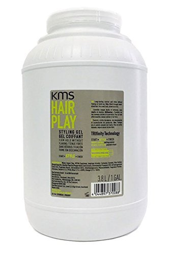 KMS HAIR PLAY STYLING GEL FIRM HOLD WITHOUT FLAKING 3.8L - 1 GALLON
