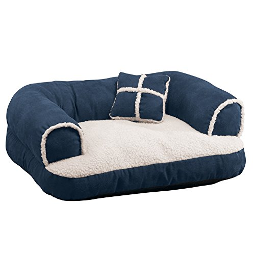 Comfy Pet Couch Pillow Blue