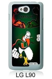 Miami Hurricanes 03 White New Customized LG L90 Phone Case